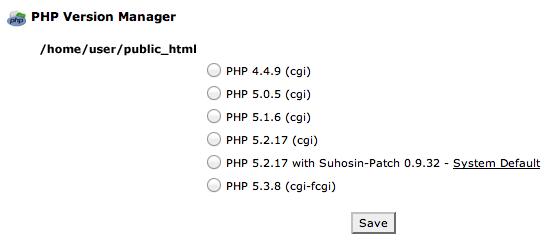 6 versioni di PHP